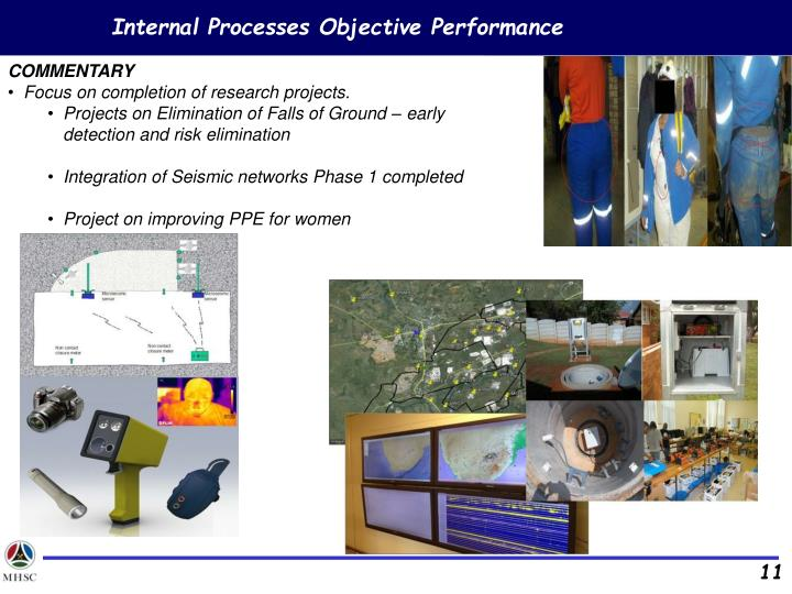 Internal Processes Objective Performance