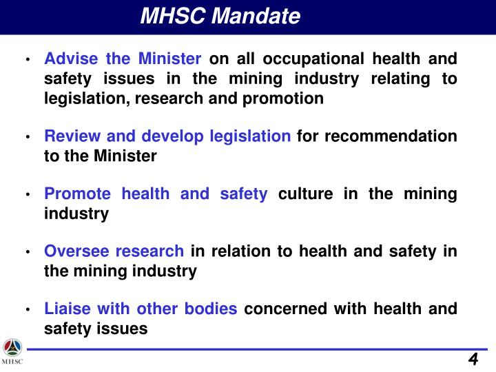 MHSC Mandate