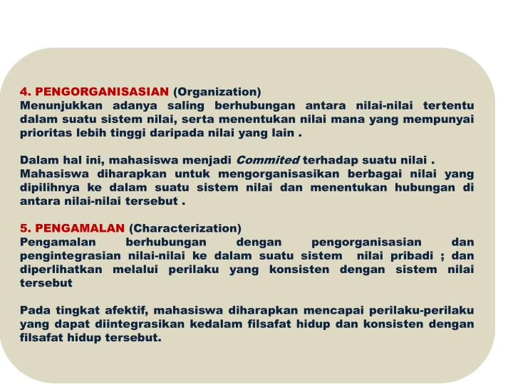 4. PENGORGANISASIAN