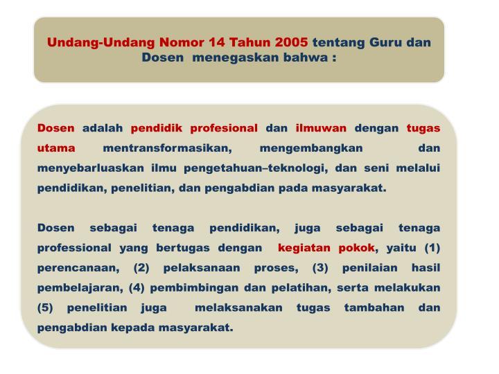 Undang-Undang Nomor 14 Tahun 2005