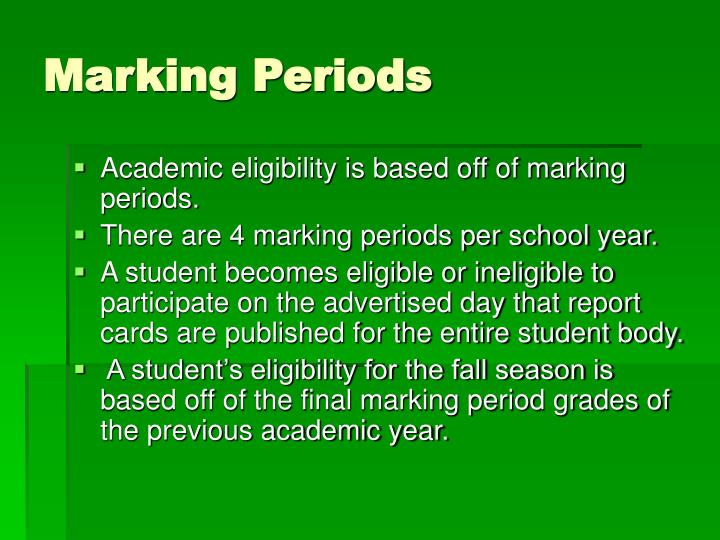 Marking Periods
