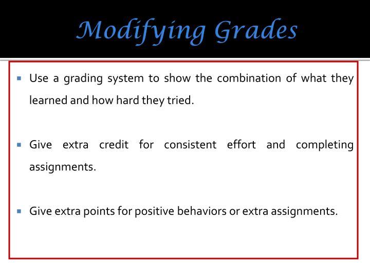 Modifying Grades