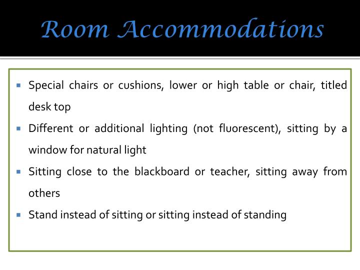 Room Accommodations