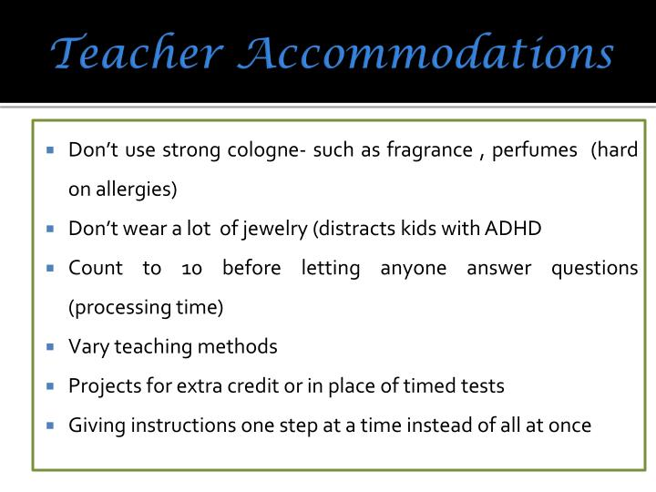 Teacher Accommodations