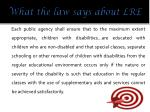 what the law says about lre