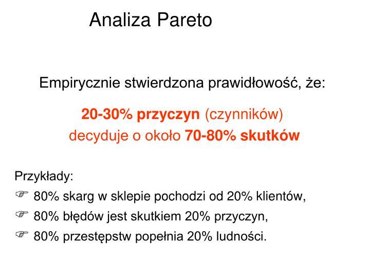 Analiza Pareto