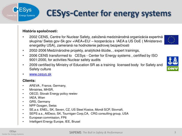 Cesys center for energy systems