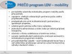 pre o program ldv mobility