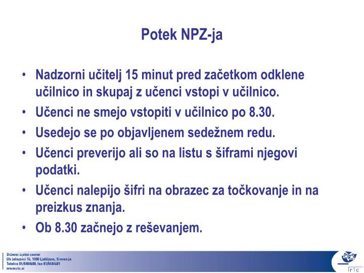 Potek NPZ-ja