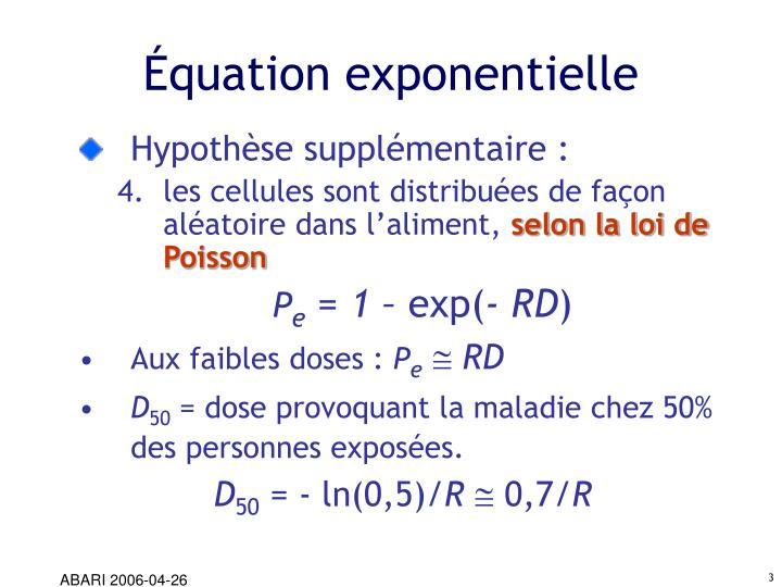 Équation exponentielle