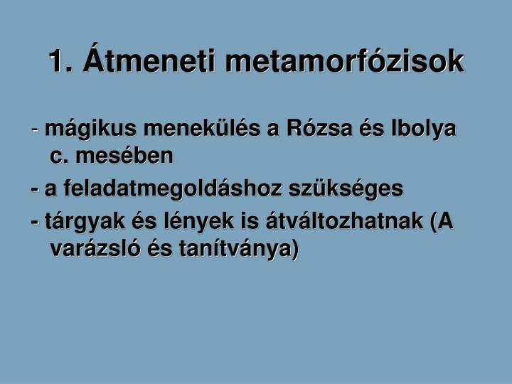 1. tmeneti metamorfzisok