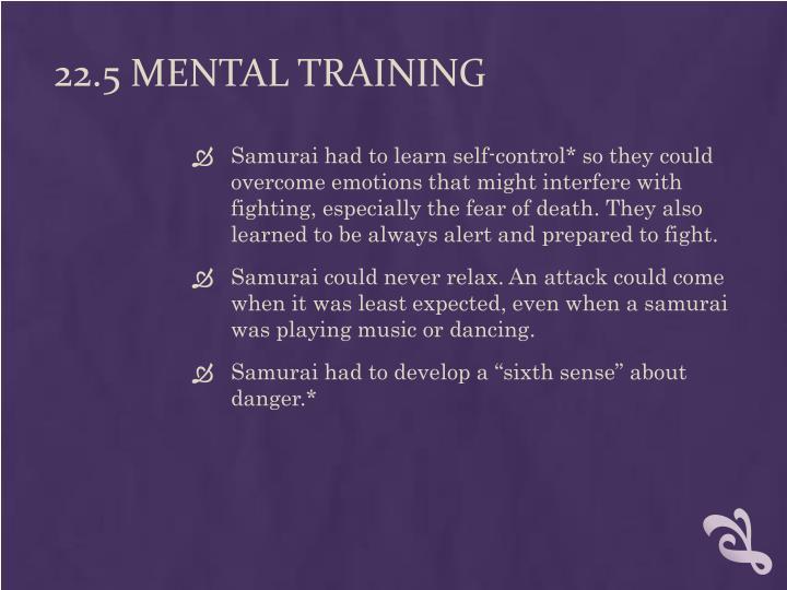 22.5 Mental Training