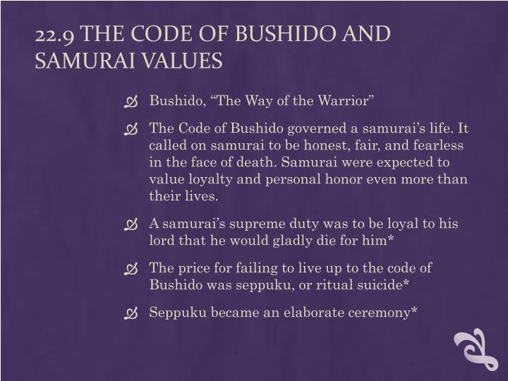 22.9 The Code of Bushido and Samurai Values