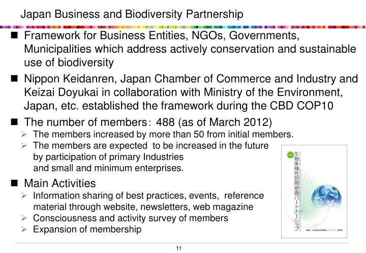 Japan Business and Biodiversity Partnership