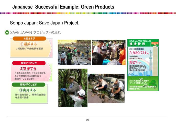 Sonpo Japan: Save Japan Project.