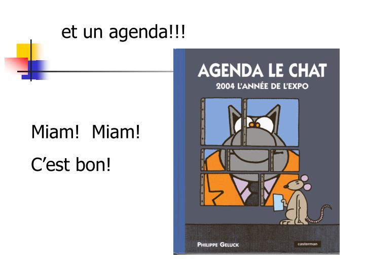 et un agenda!!!