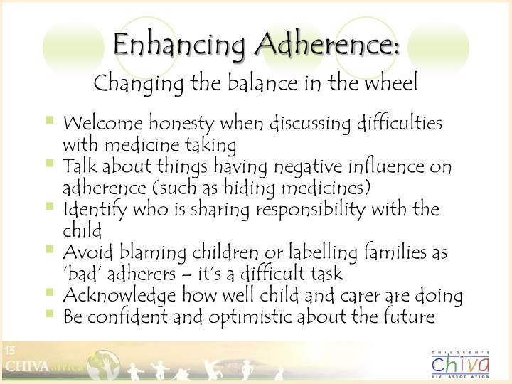 Enhancing Adherence: