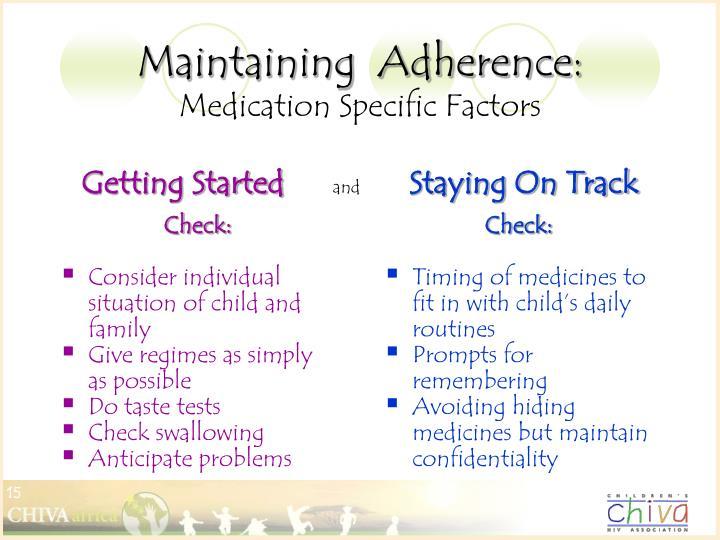 Maintaining  Adherence: