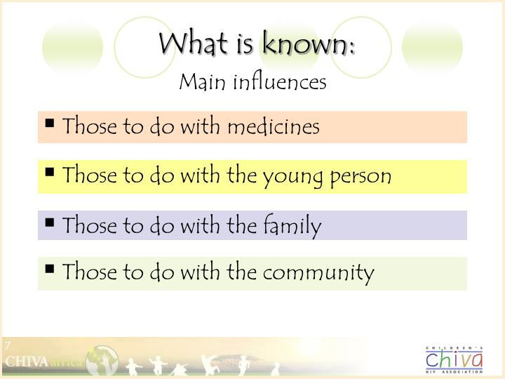 What is known: