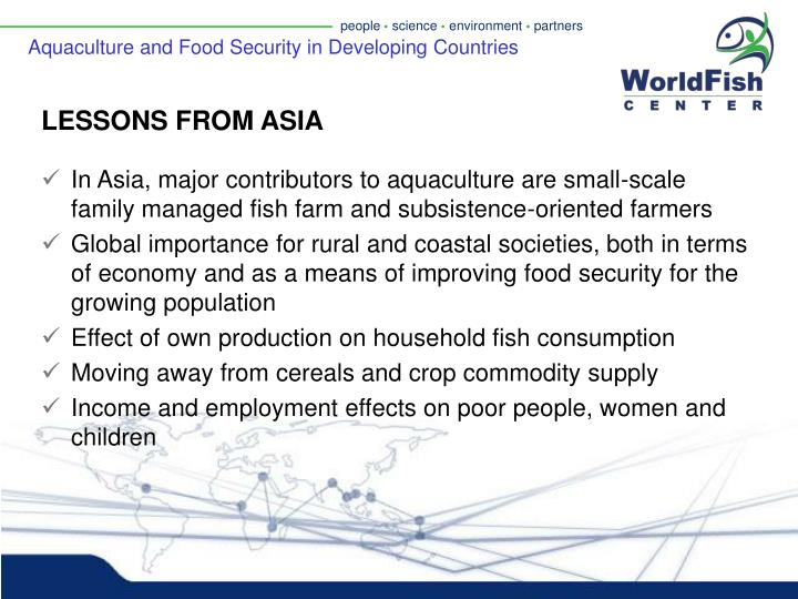 Aquaculture and Food Security in Developing Countries