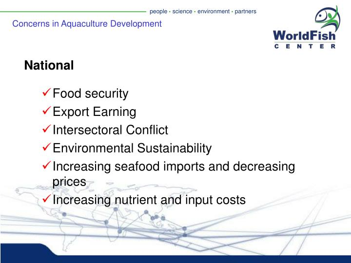 Concerns in Aquaculture Development