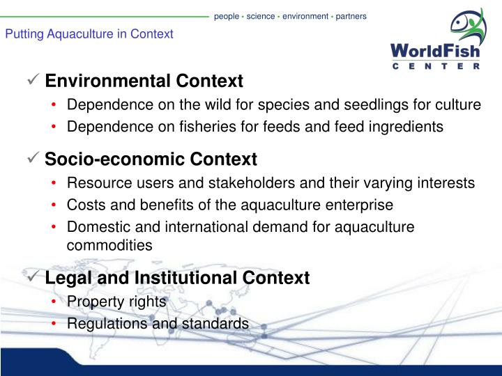Putting Aquaculture in Context