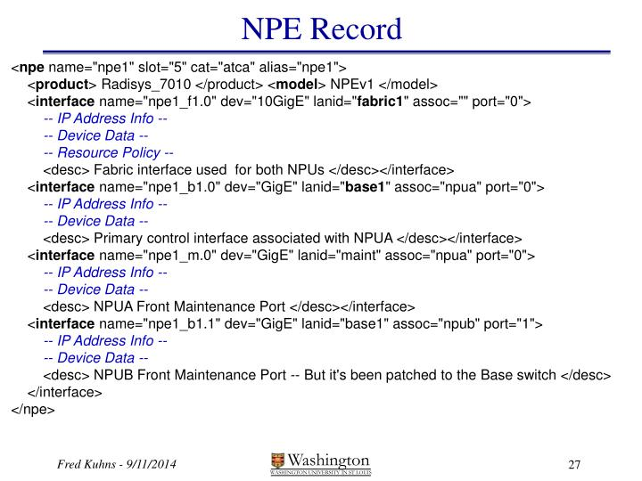 NPE Record