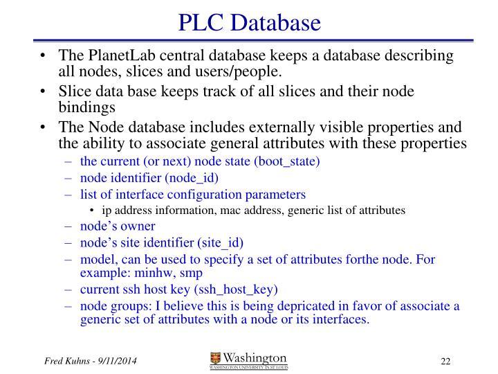 PLC Database