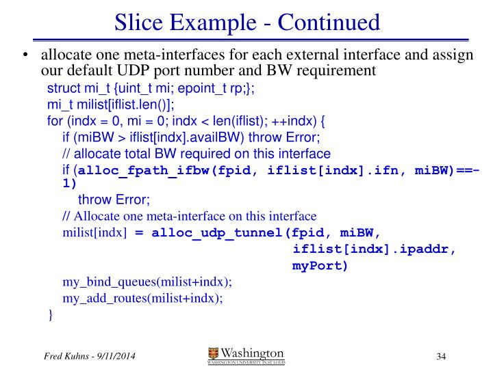 Slice Example - Continued