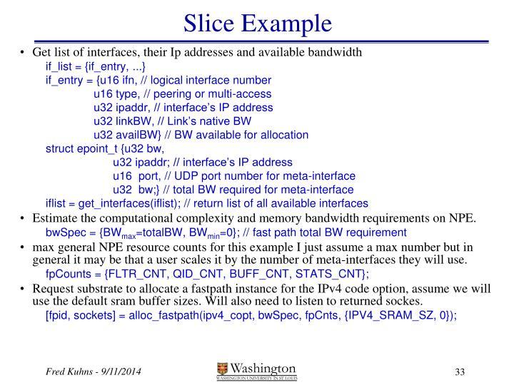 Slice Example