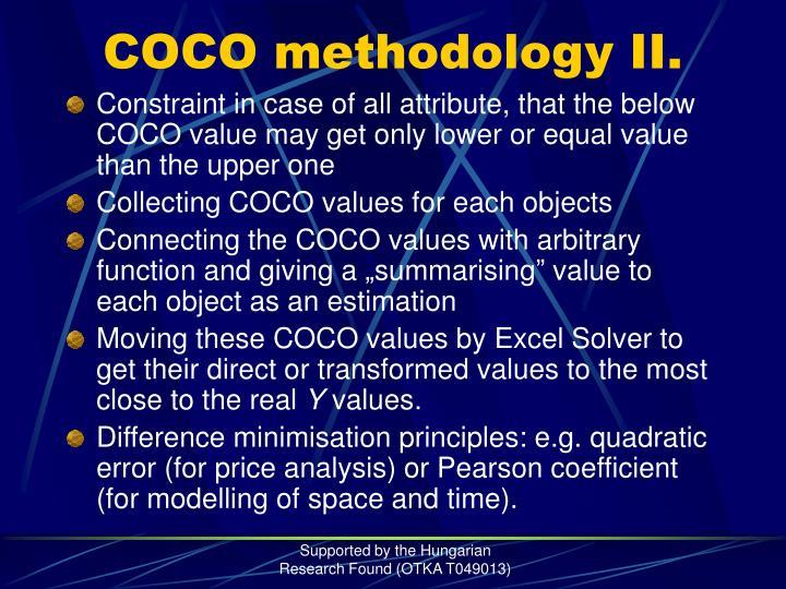 COCO methodology II.