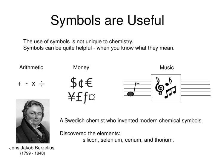 Symbols are Useful
