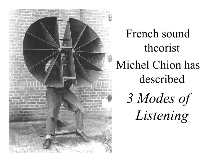 French sound theorist