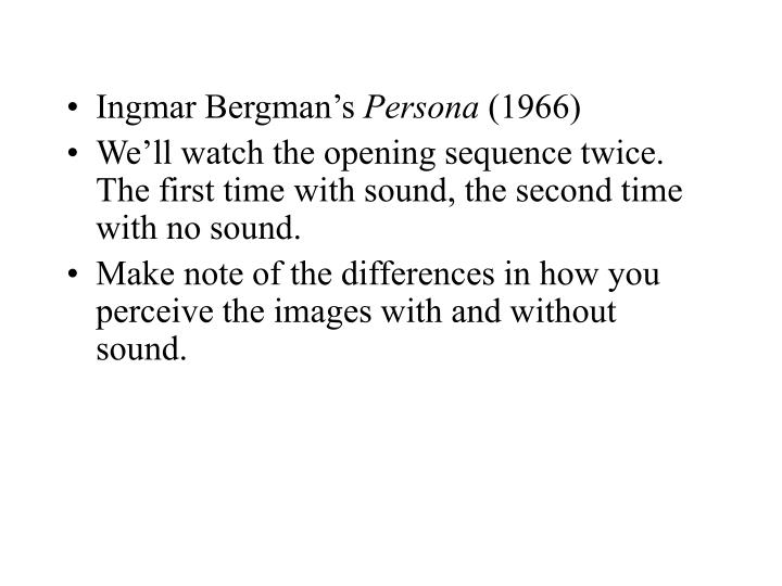 Ingmar Bergman's