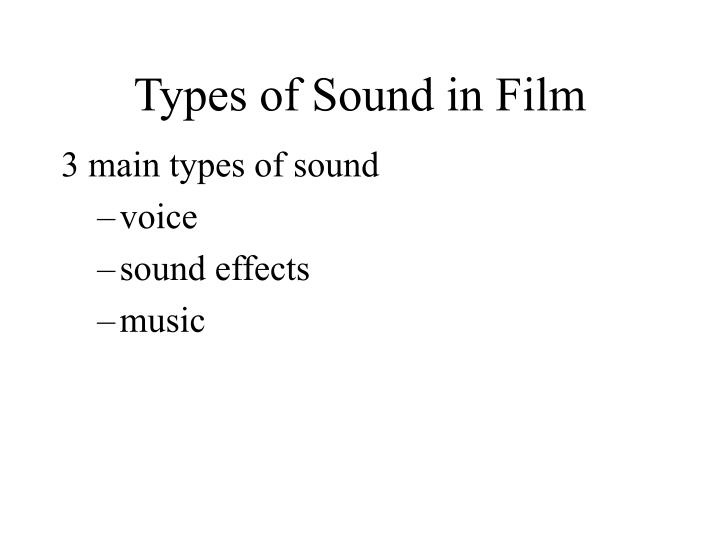 Types of Sound in Film