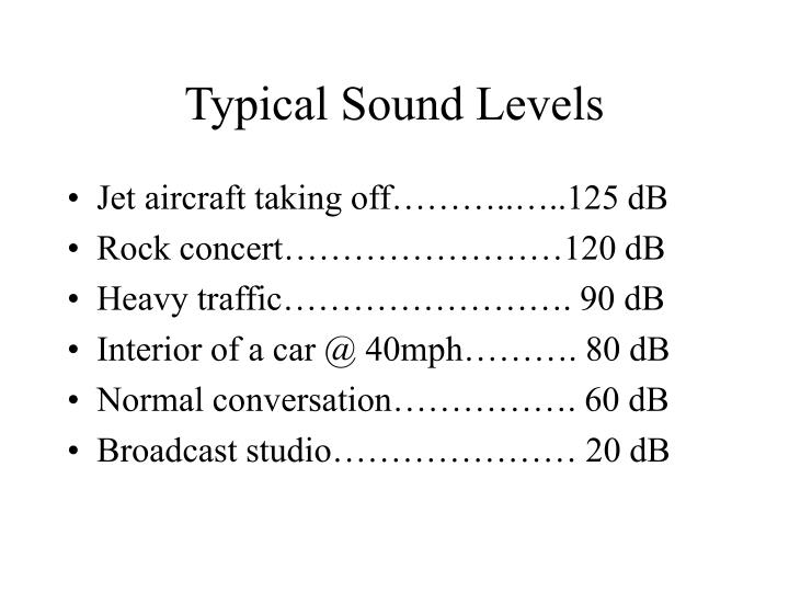 Typical Sound Levels