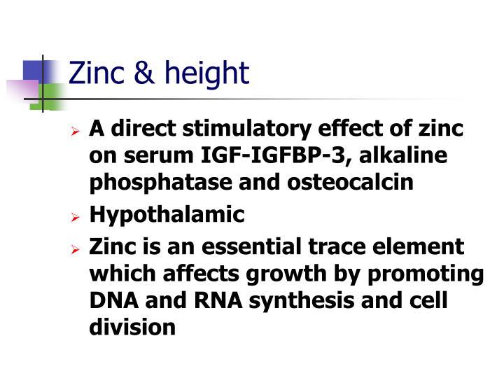 Zinc & height