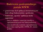 budowanie profesjonalnego portalu www