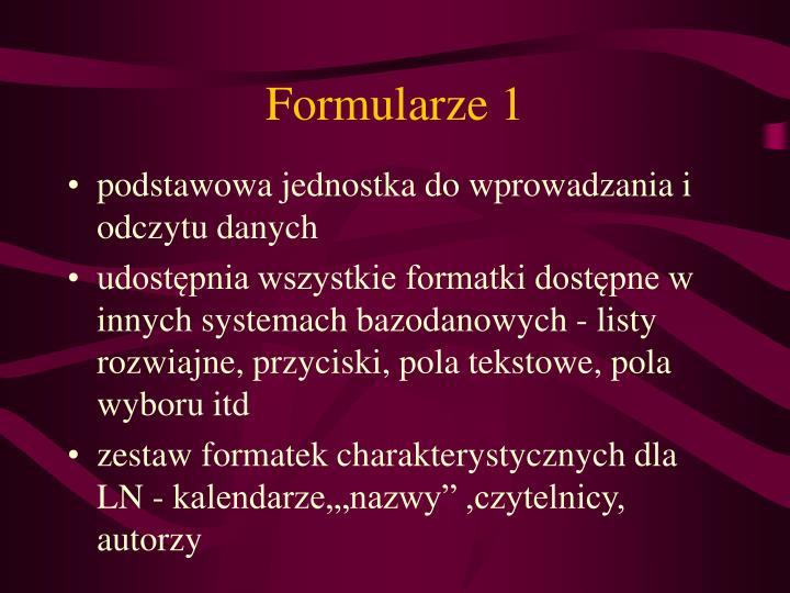 Formularze 1