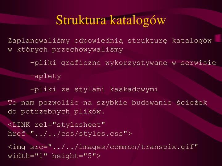 Struktura katalogów