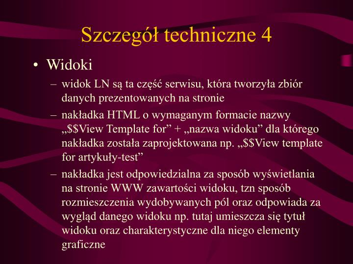 Szczegół techniczne 4