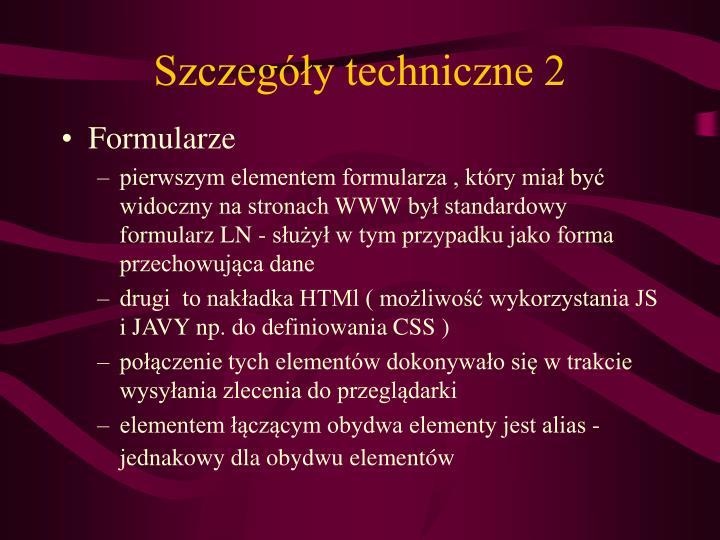 Szczegóły techniczne 2