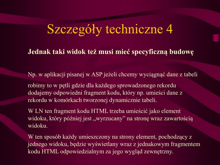 Szczegóły techniczne 4