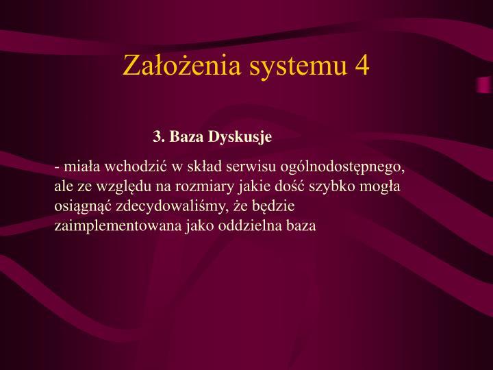 Założenia systemu 4