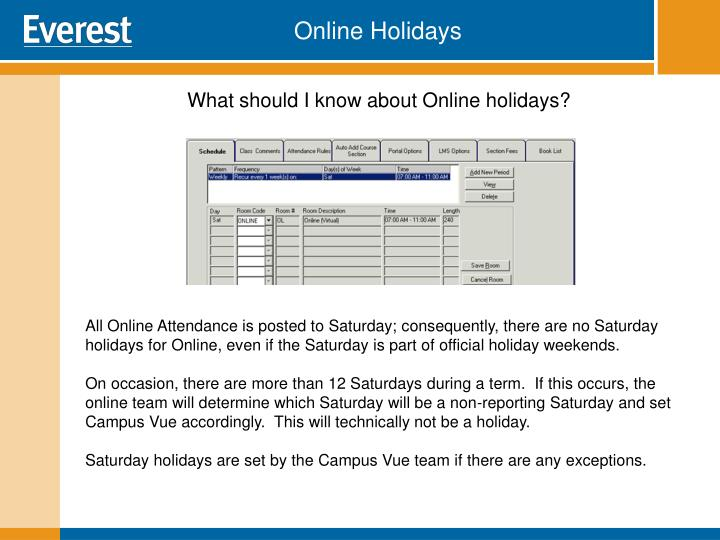 Online Holidays