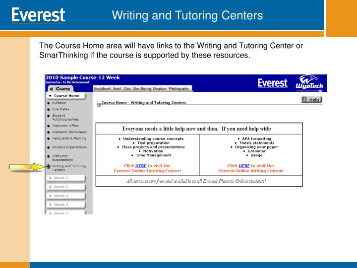 Writing and Tutoring Centers