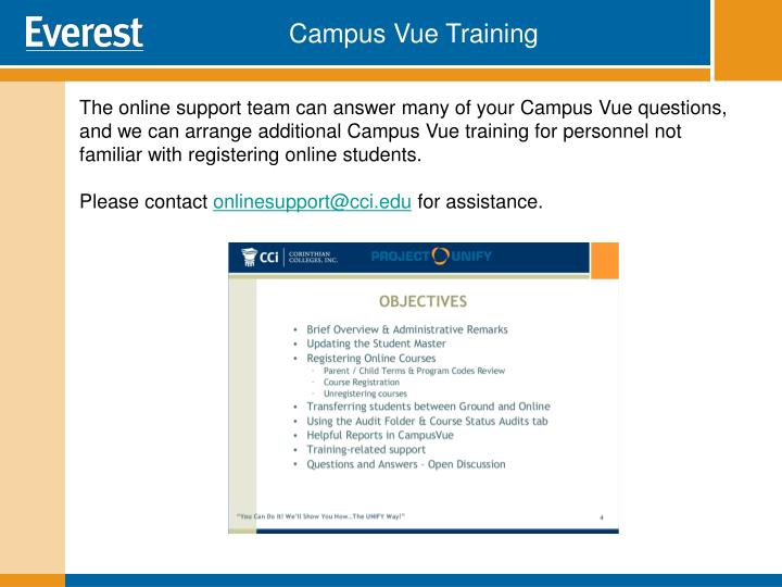 Campus Vue Training