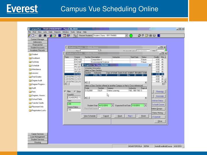 Campus Vue Scheduling Online