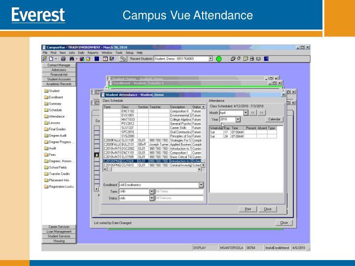 Campus Vue Attendance