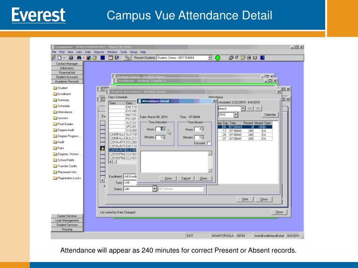 Campus Vue Attendance Detail